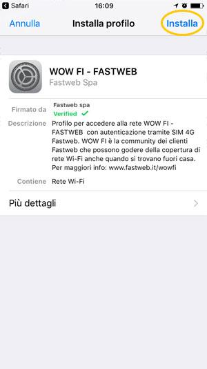 MyFastweb - WOW FI iOS SIM 4G