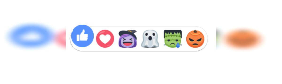 Facebook traveste le sue reazioni per Halloween