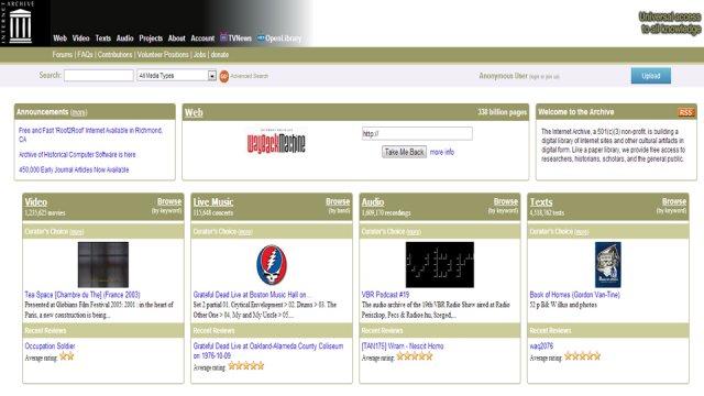 Internet archive la biblioteca gratuita del web fastweb for Software di architettura gratuito online
