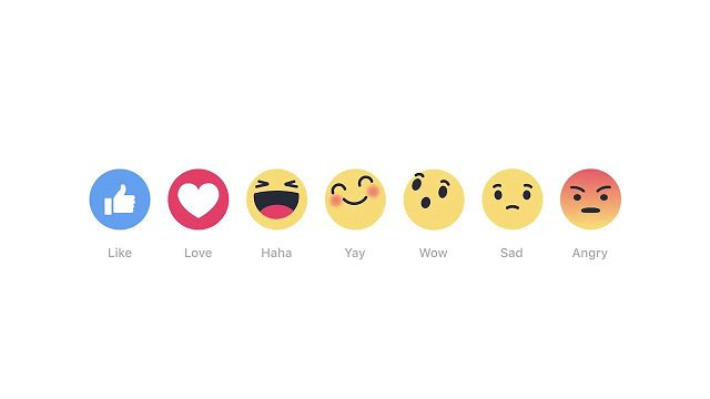 Facebook introduce le Reactions