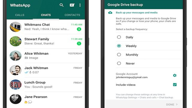 Come fare il backup di WhatsApp su Google Drive