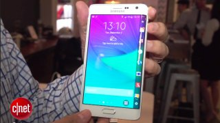 Samsung Note Edge, immagine dal video del sito Cnet