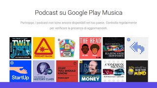Su Google Play Music arrivano i podcast