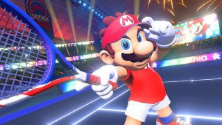 Mario Tennis gameplay screenshot